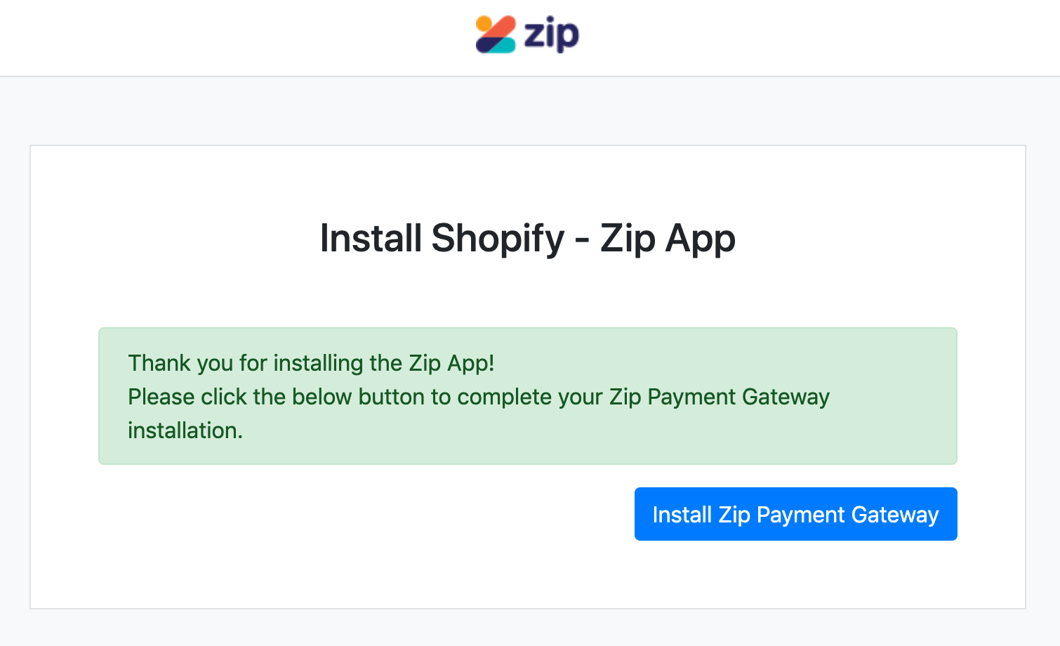 Shopify - Update to new gateway